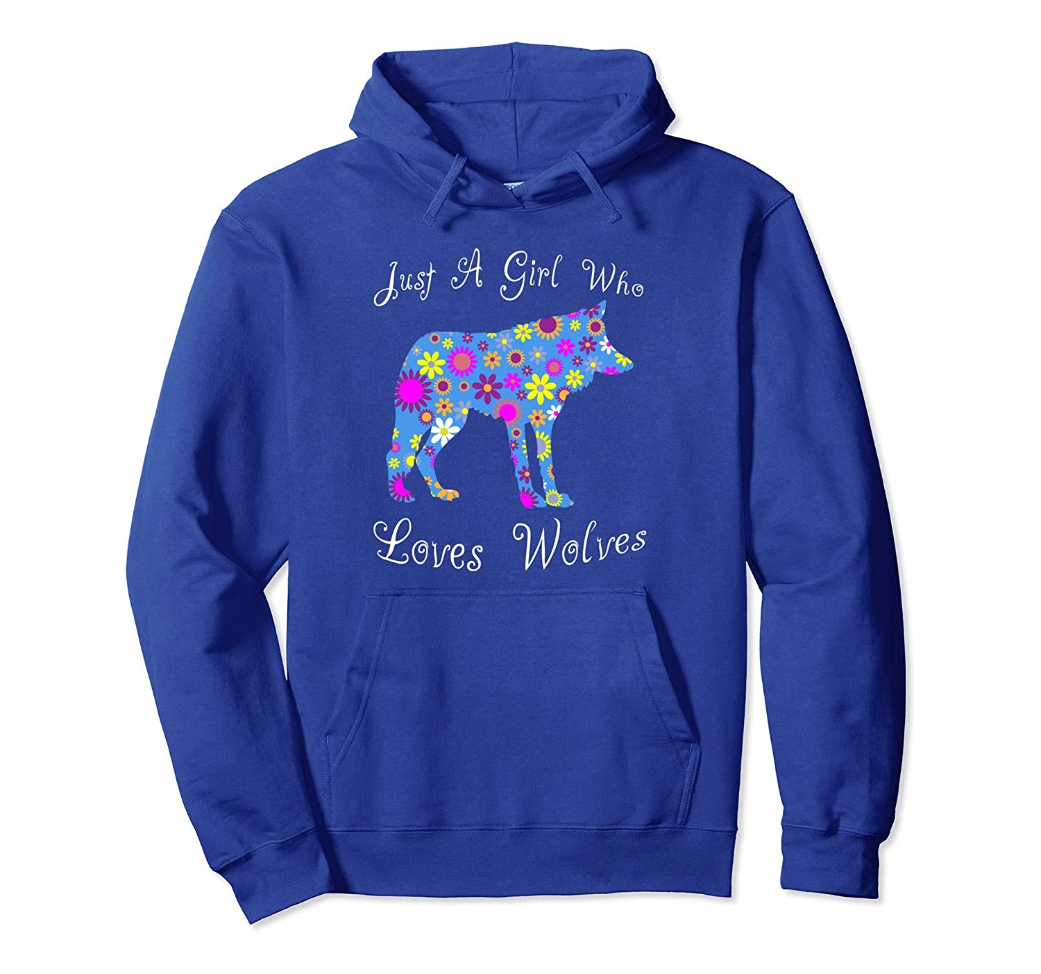 Cute Wolf Hoodie - Floral Design Stylish For Women And Girls-mt