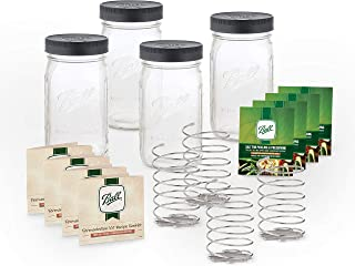 product image for Ball 4 Fermentation Kits, 32oz, Clear