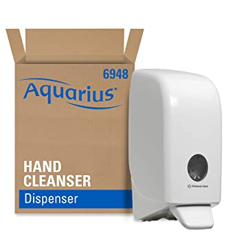 Aquarius 6948 Dispensador de Gel de Manos, 1 L, Blanco