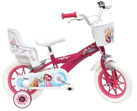 Bicicleta de Princesas Disney para niña, Multicolor, 12 Pulgadas ...