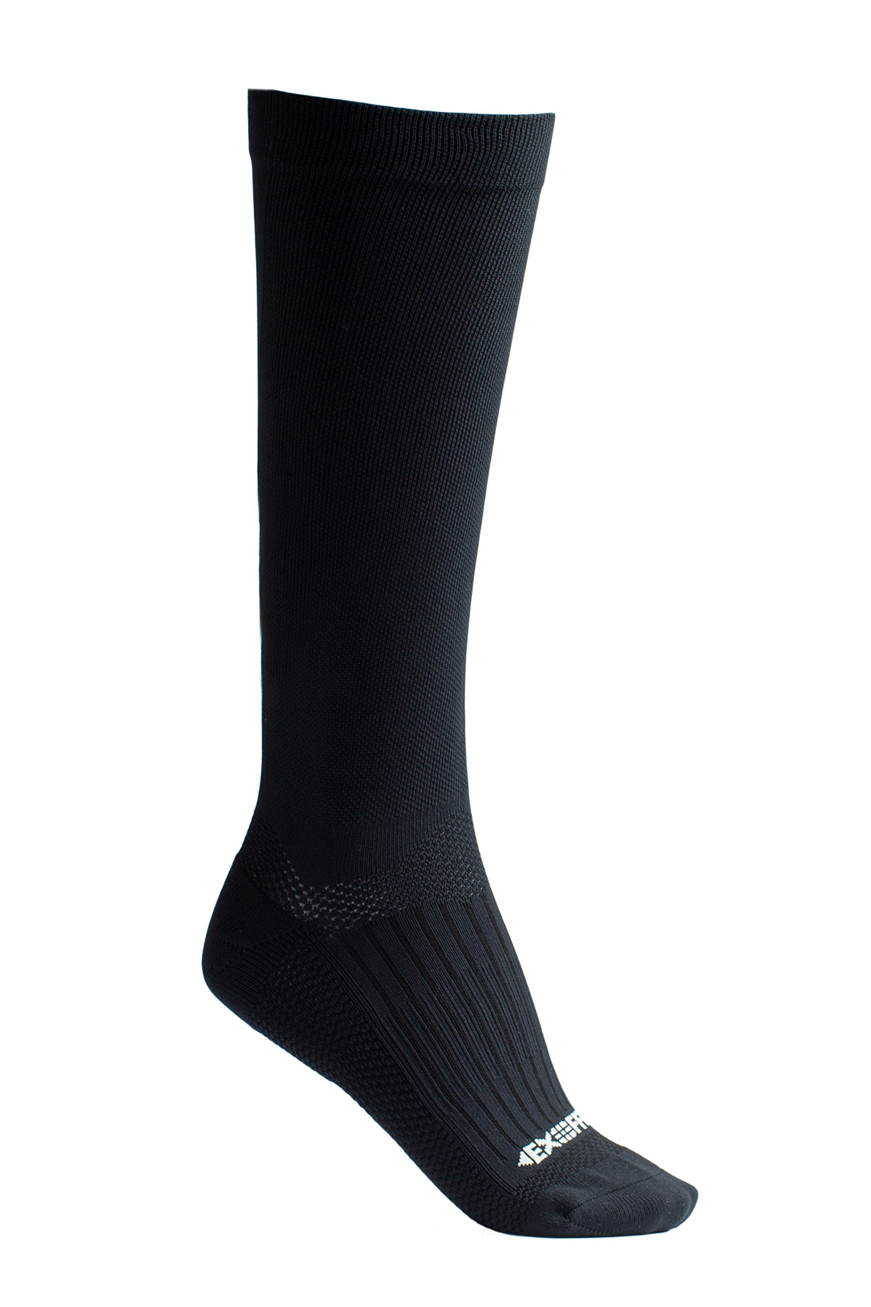 ExOfficio Women's Travel Compression Sock, Black, Small/Medium