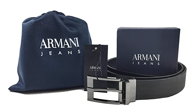 100 By Ceinture Multicolore Homme Jeans Blu Armani Nero QrBtCshdx
