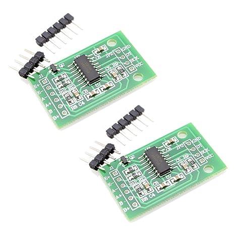 2pcs HX711 peso, presión, fuerza, par de torsión y Chip de módulo de