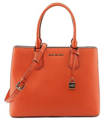 d3d1b0981c53 Amazon.com  Michael Kors Adele LG Satchel Leather Clementine Ballet  (35T8GAFS3L)  Shoes