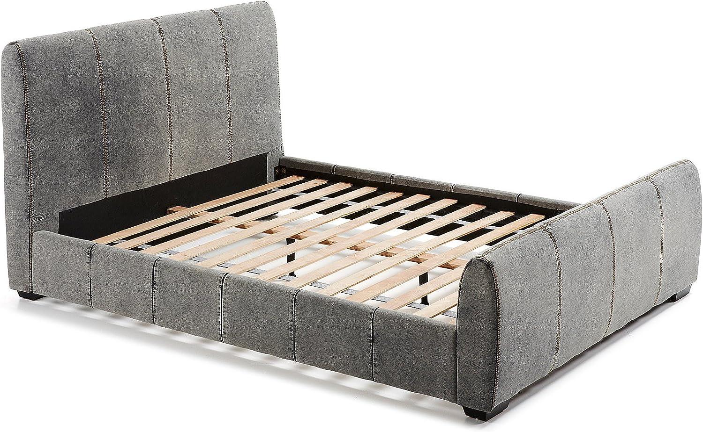 CONFORTSHOP -Cama 150x200 con somier y cabezal tapizado en ...