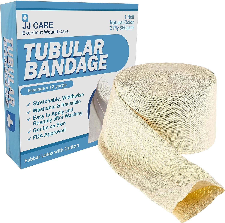Amazon Com Premium Elastic Tubular Bandage 5 X 12 Yards Cotton