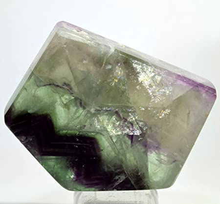 2.2lb 8-15pcs Natural Green Purple Fluorite Crystal Point Healing
