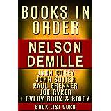 Nelson DeMille Books in Order: John Corey series, John Corey short stories, John Sutter books, Paul Brenner books, short stor