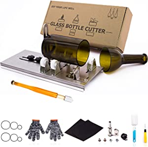 Glass Bottle Cutter, Upgraded Bottle Cutting Tool Kit, DIY Machine for Cutting Wine, Beer, Liquor, Whiskey, Alcohol, Champagne, Bottle Cutter for Round Bottle by Camdios