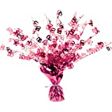 Perfectly Pink Party - Age 40/40th Birthday Weighted Centrepiece
