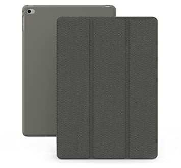 KHOMO Funda iPad Air 2 - Carcasa Gris Ultra Delgada y Ligéra con Smart Cover para Apple iPad Air 2 - Italic Grey