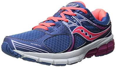 Womens Shoes Saucony Mystic Blue/Coral/Fuchsia