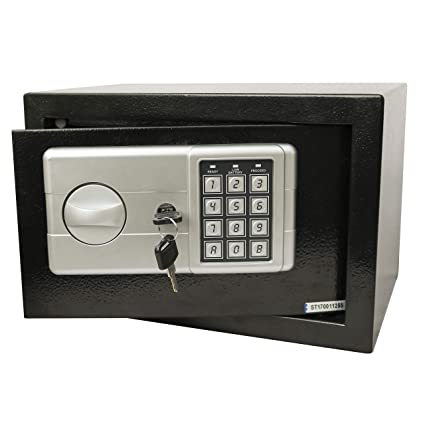 Sheel Security Solutions Access Model No.20EK Electronic Safe (Black & Silver)