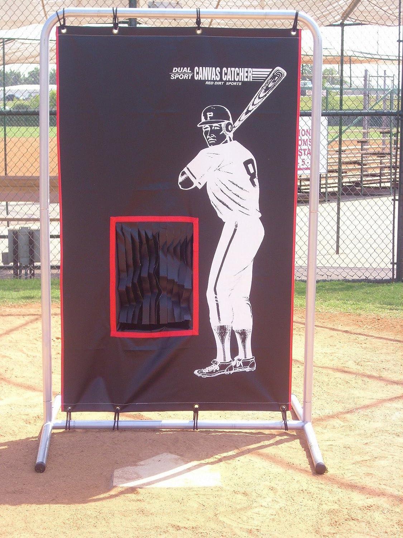 amazon com baseball football backstop catcher with frame