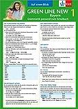Green Line New Bayern 1 - Auf einen Blick: Grammatik passend zum Schulbuch - Klappkarte (6 Seiten)