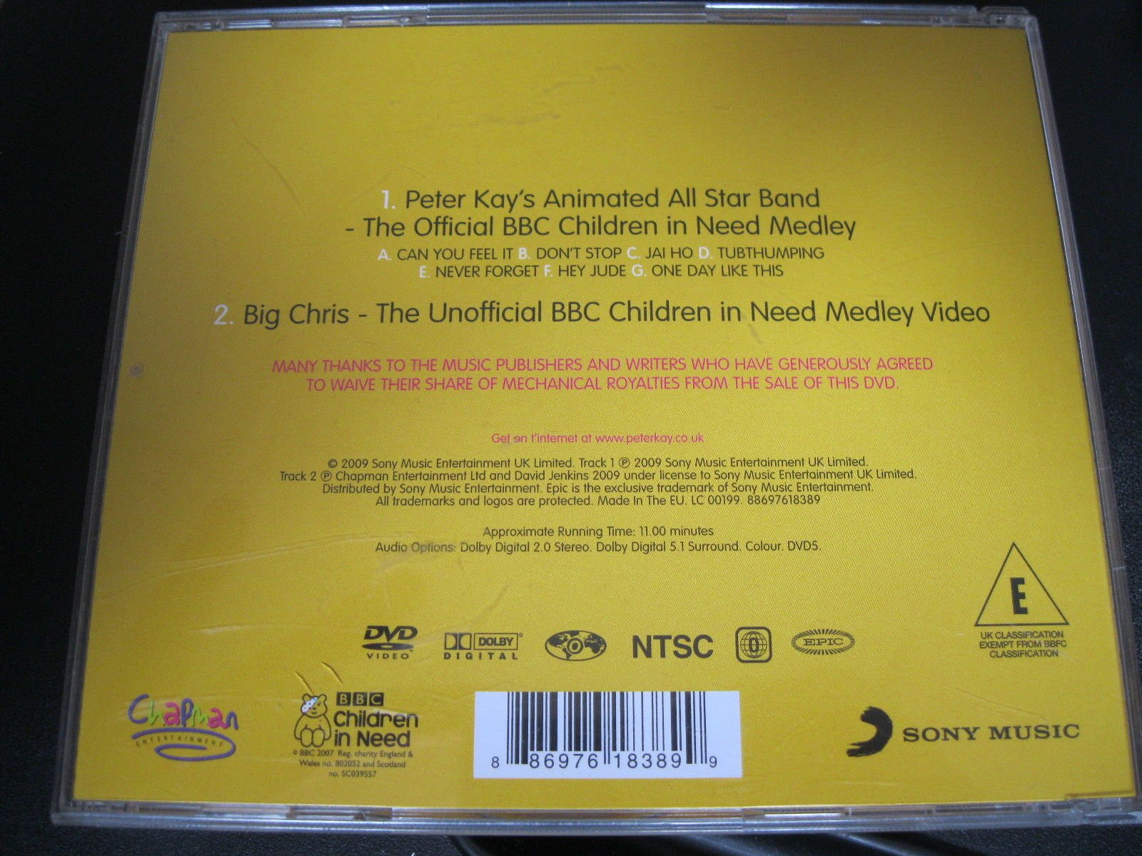 8b34ecdcafd2c6 PETER KAY S ANIMATED ALL STAR BAND. THE OFFICIAL BBC 2009 CHILDREN IN NEED  DVD CD SINGLE.  Amazon.co.uk  PETER KAY  Books