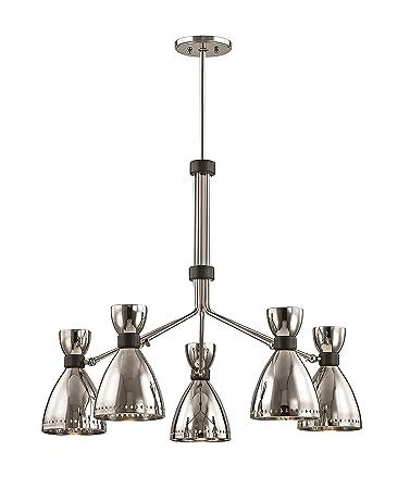 hudson valley lighting 4145 pn solaris 5 light chandelier polished nickel - Hudson Valley Lighting