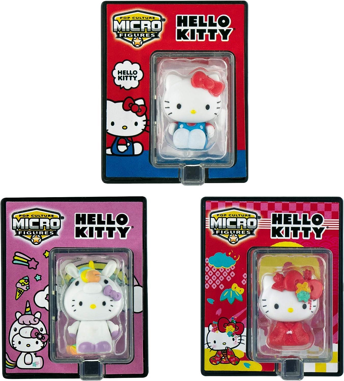 World's Smallest Hello Kitty Bundle Set of 3 Micro Figures