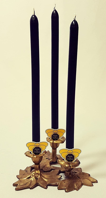Candele Set 6candele, candele Nero tinto in cera d' api Cera d' api Candele di cera d' api il dolore magia Spitz lavagna candele Albero di Natale E - MANUFAKTUR