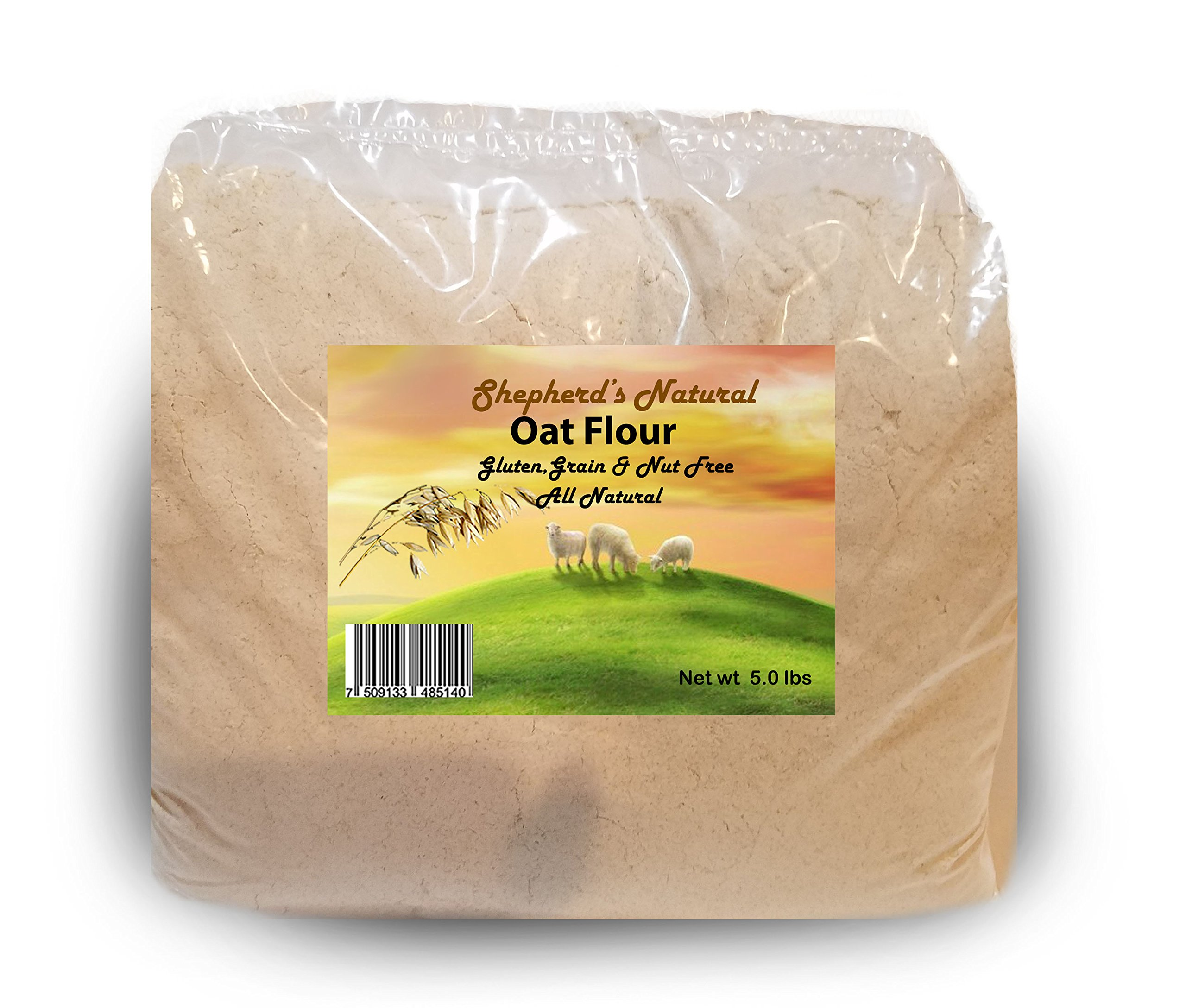 Oat Flour 5 lb/80 oz bag by Shepherd's Natural
