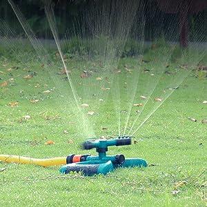 Bobalaly Lawn Sprinkler Rotating Sprinkler for Yard Large Area Coverage Water Sprinklers for Lawns and Gardens,Adjustable Gardening Irrigation System Waterpark Toys