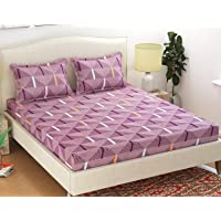 HFI Homefab India Polycotton Double Bedsheet with 2 Pillow Covers