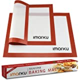 Imarku Silicone Baking Mat Set of 2 ,Non-Stick,Heat Resistant, Durable Silicon Liner for Bake Pans