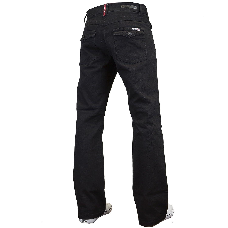 APT Mens Designer Basics Regular Fit Bootcut Jeans, 28