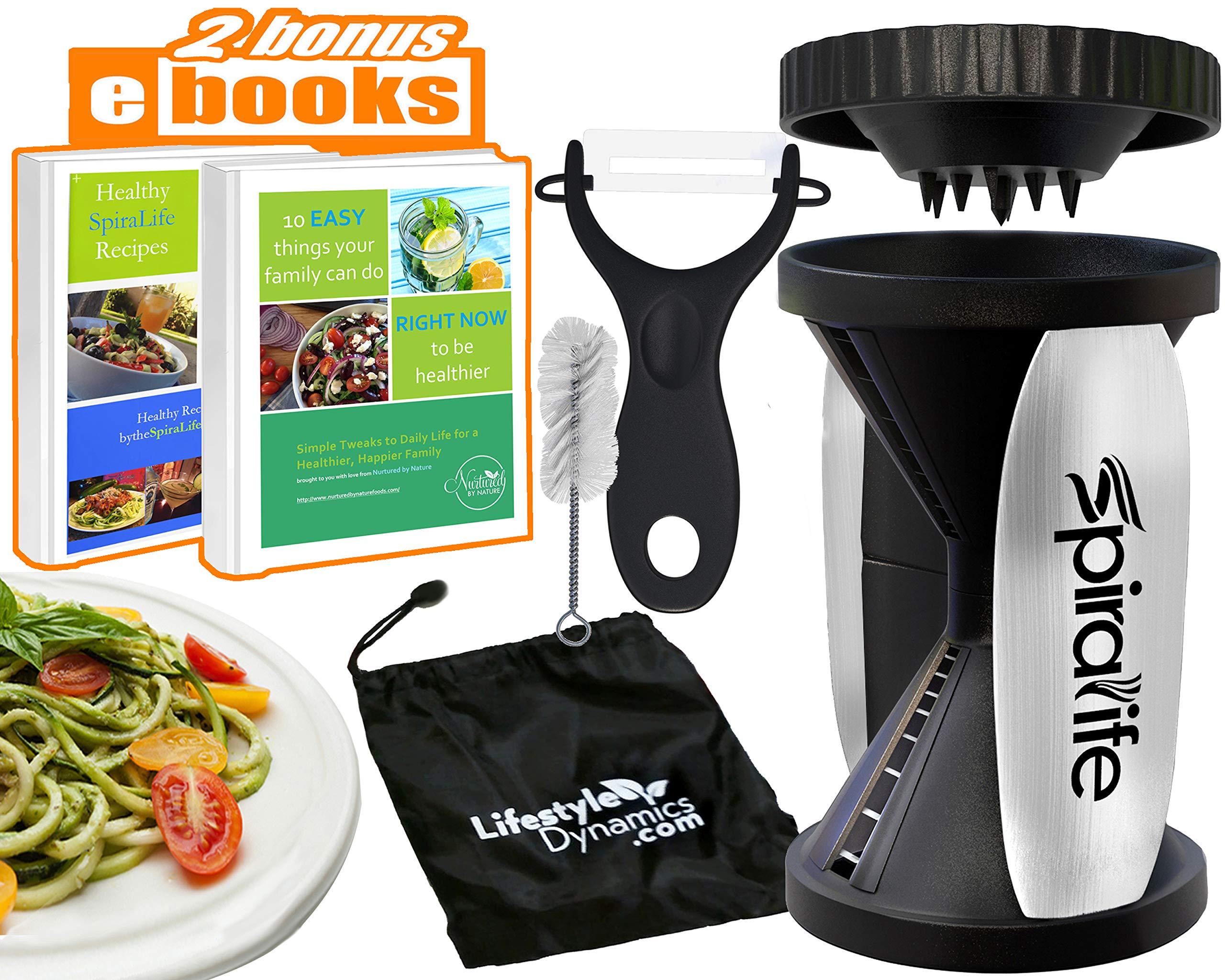 Original SpiraLife Spiralizer Vegetable Slicer - Vegetable Spiralizer - Spiral Slicer Cutter by Lifestyle Dynamics
