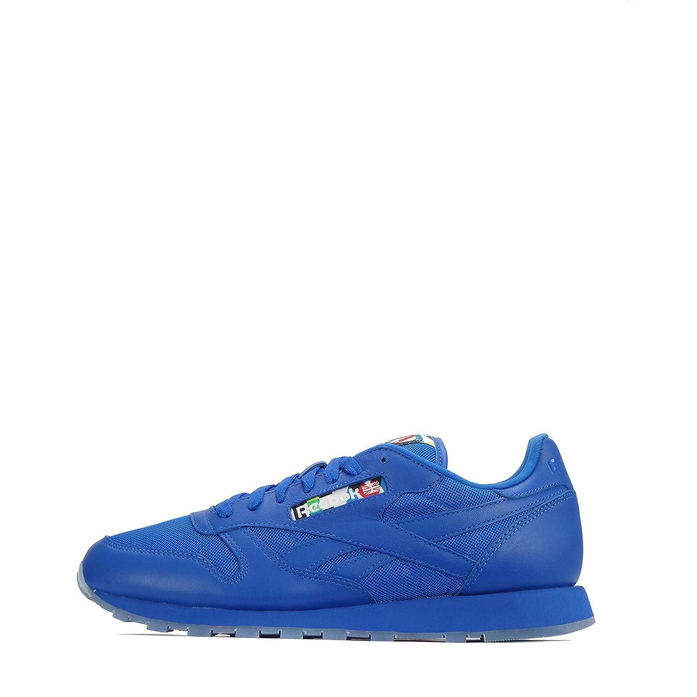 Reebok  Reebok Classic Leather, Herren Sneaker Buff Blue-Ice  40.5 EU