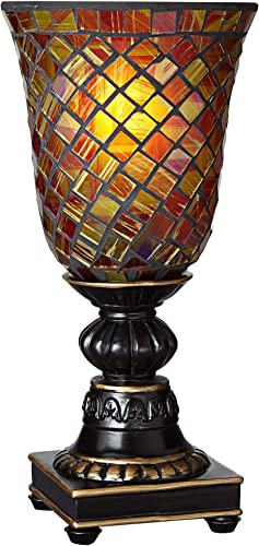 Mosaic Brown Glass 12″ High Uplight Accent Lamp
