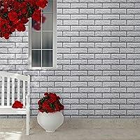 KINLO 3D-zelfklevend behang, 10 kleuren, 0,6 x 5 m, behangsteen, muursticker, steenbehang, baksteen, behang…