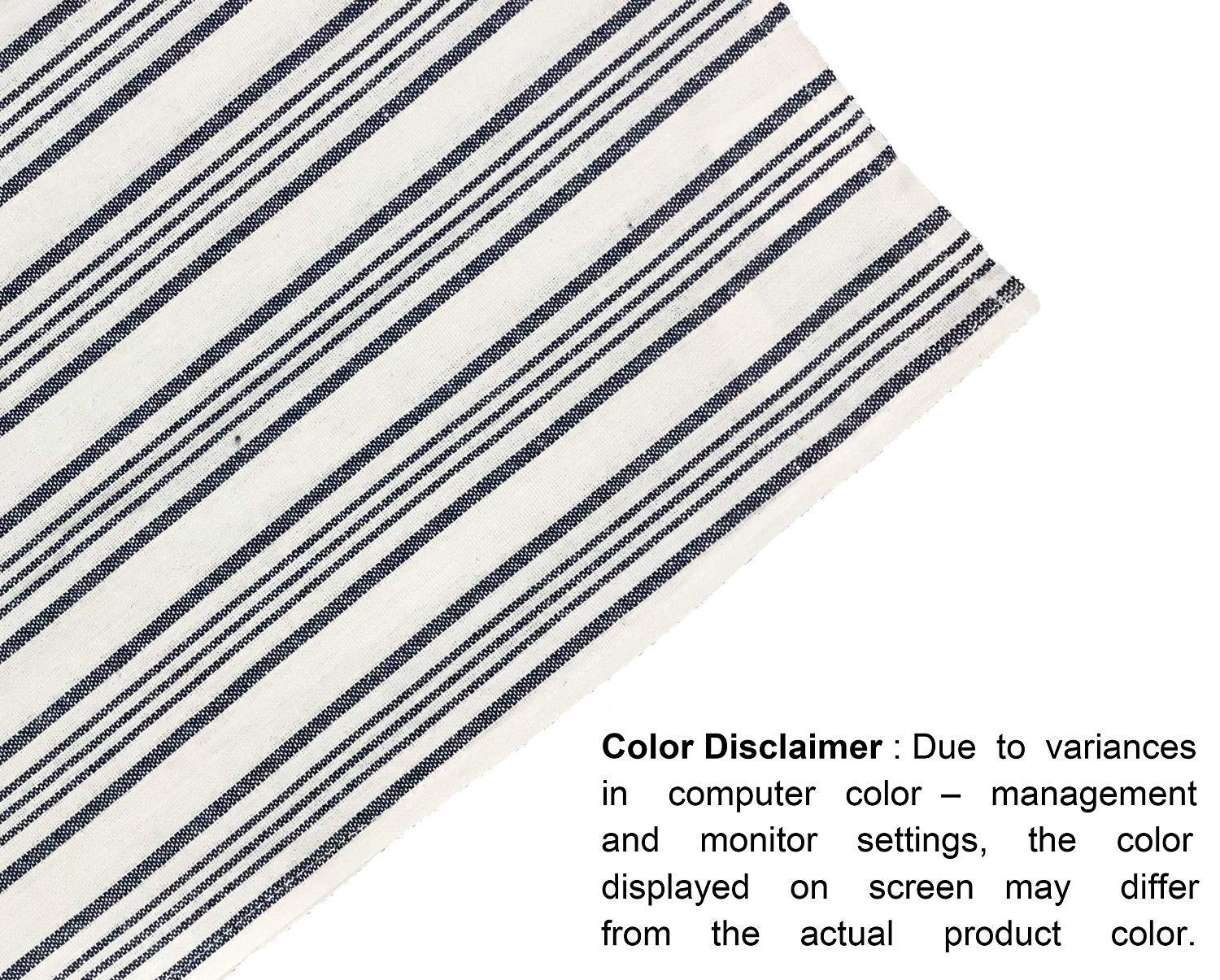 Glamburg 12-Pack Classic Stripe 100/% Cotton Kitchen Towel /& Dish-Towels Oversized 18x28 Quick Dry Commercial Grade Soft /& Absorbent Navy