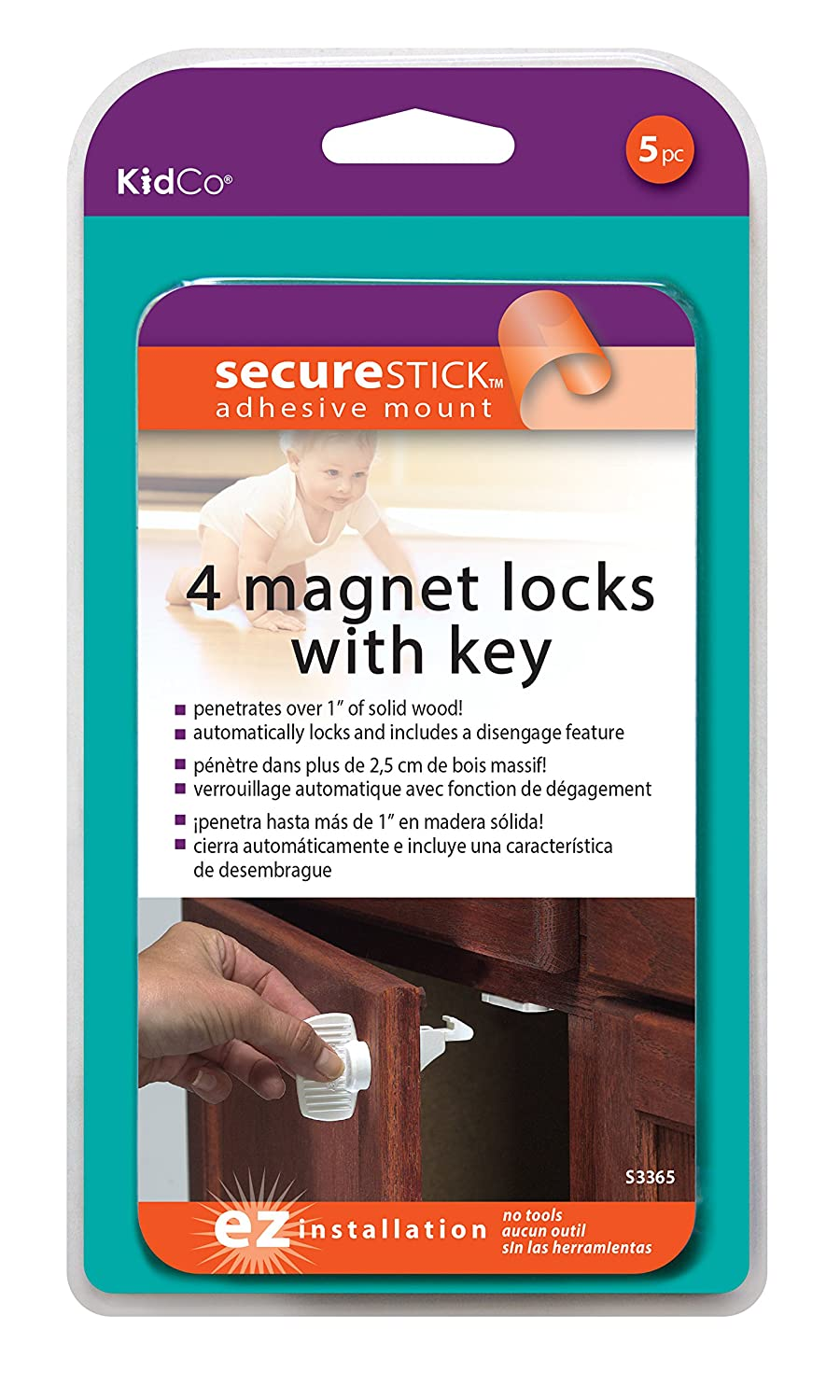 KidCo Magnet Lock Set, White Inc. S3365