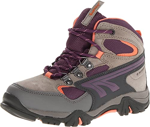 Hi-Tec Kid's Nepal Waterproof Junior Hiking Boot (Toddler/Little Kid/Big Kid),Warm Grey/Beetroot/Salmon,10 M US Toddler