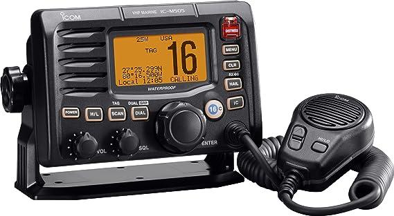 icom m505 vhf dsc marine transceiver black amazon co uk sports rh amazon co uk icom m505 installation manual icom m506 manual