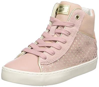 Geox Mädchen J Kilwi Girl C Hohe Sneaker, Weiß (White), 25 EU