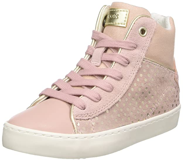 Geox Girl's Kilwi Mid Trainers UK 1 Pink