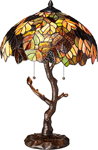 River of Goods Enchanted Forest Tiffany Style Stained Glass Table Lamp