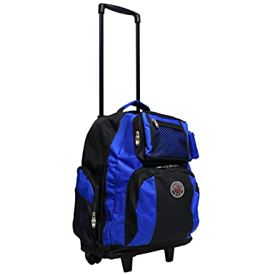 Amazon.com | Transworld Roll-Away Deluxe Rolling Backpack - Royal ...