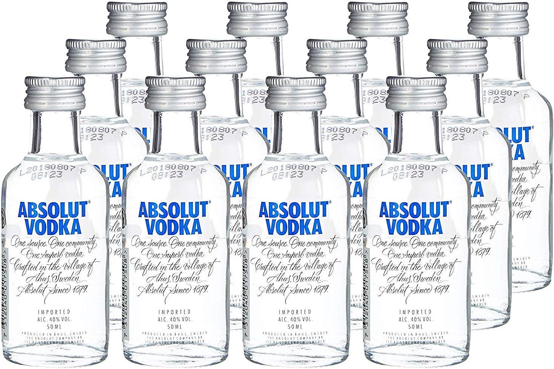 Miniatura absolut vodka 5cl: Amazon.es: Alimentación y bebidas