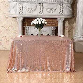 3E Home 70x70u0026quot; Square Sequin TableCloth For Party Cake Dessert Table  Exhibition Events, Champagne