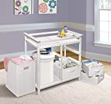 Modern Baby Changing Table with Laundry Hamper, 3