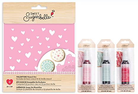 Amazon Com Sweet Sugarbelle Valentines Cookie Stencils And Edible