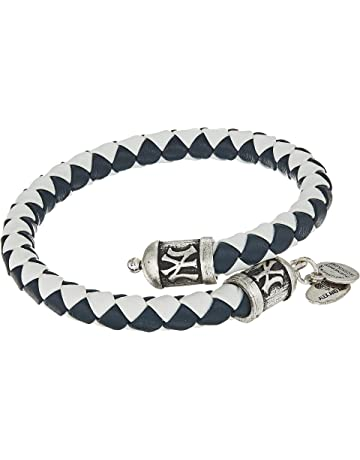 708b5ce6f Alex and Ani Womens MLB New York Yankees Braided Leather Wrap Bracelet