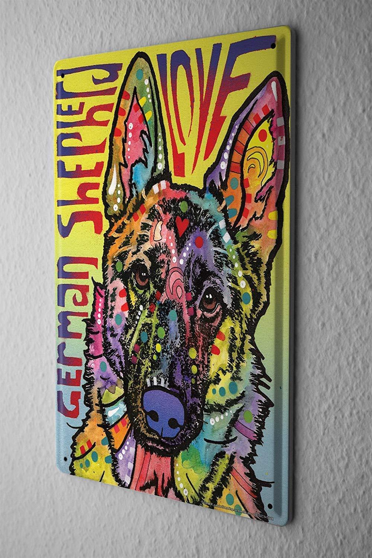 Tin Sign Animal Shelter German Shepherd