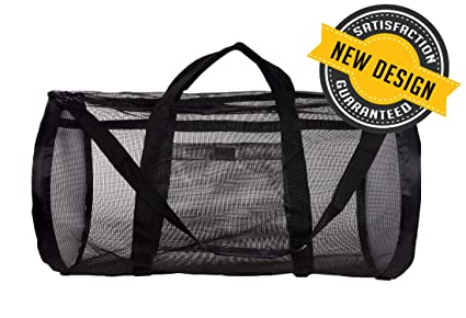 Dive Bag Mesh Duffle Bag - Scuba Bag for Diving Equipment - Extra Large Scuba Diving Gear and Snorkel Bag Mesh Duffel Bag - Ideal Dive Gear Bag and ...