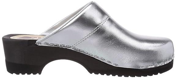 3600 Bighorn Flexibler Clog Silber 40 - Zuecos para Mujer, Color Silber (Silber(zilver) 11), Talla 40 Gevavi