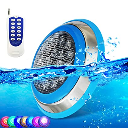 Amazon.com : CNBRIGHTER LED Underwater Swimming Pool Lights, 54W RGB ...