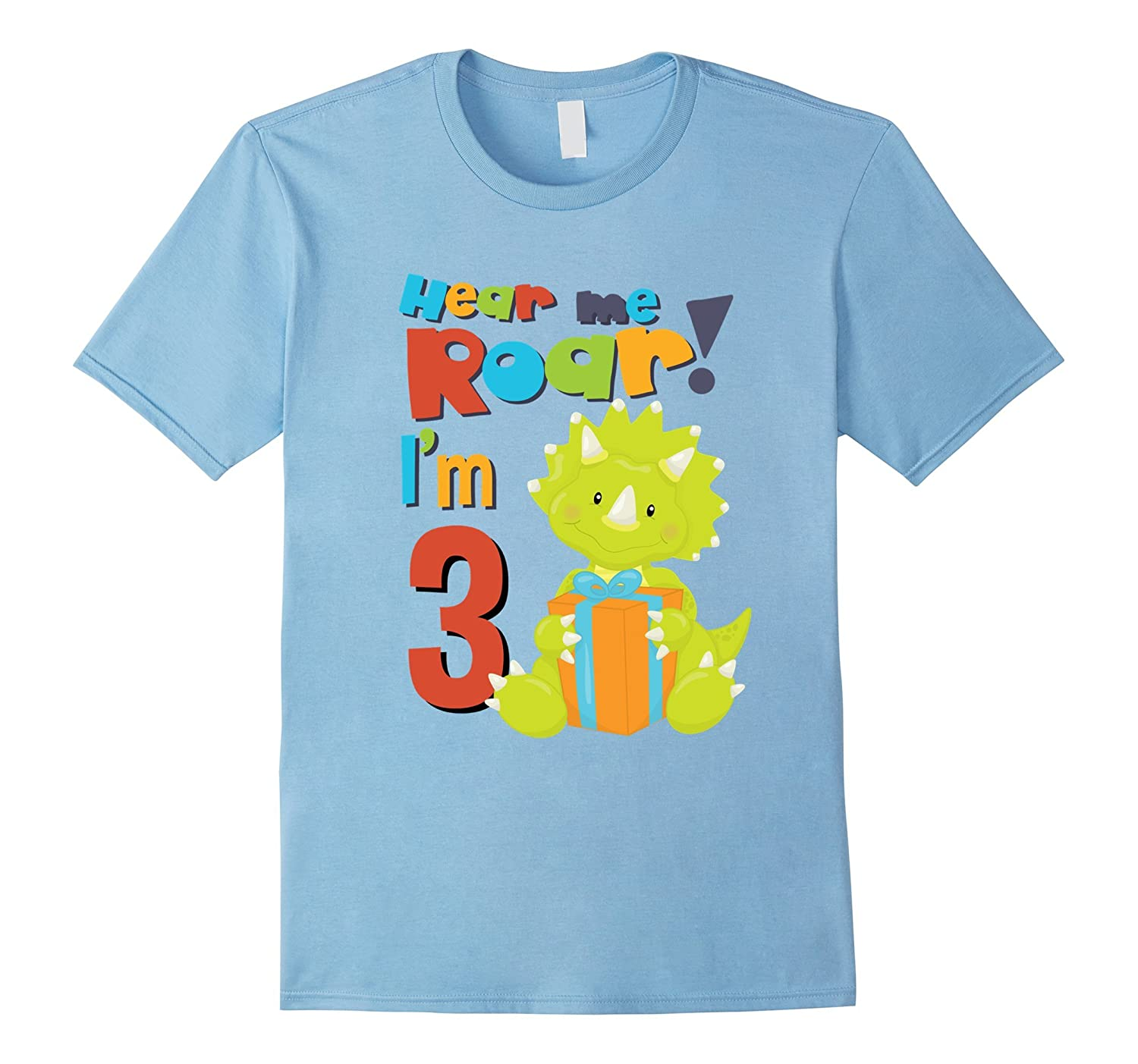 Roar Im 3 Birthday Year Old Boy Dinosaurs Shirt FL